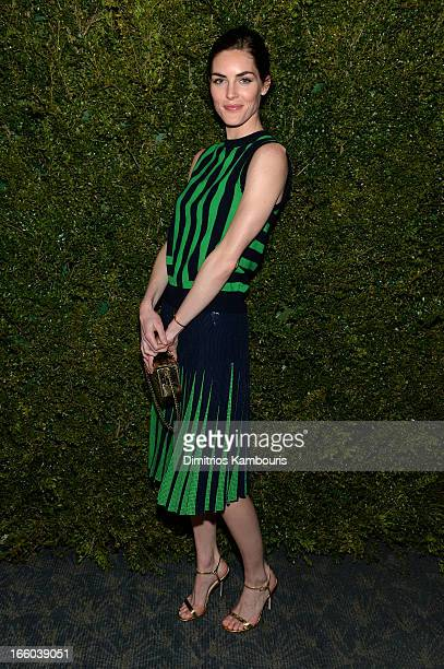 Hilary Rhoda attends a dinner in honor of Halle Berry as she joins Michael Kors and the United Nations World Food Programme to help fight world...