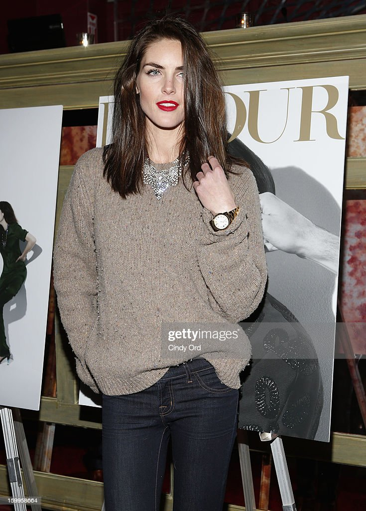 Hilary Rhoda attends DuJour Magazine Gala with Coco Rocha and Nigel Barker presented by TW Steel at Scott Sartiano and Richie Akiva's The Darby on January 23, 2013 in New York City.
