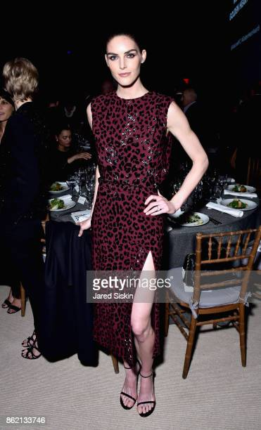 Hilary Rhoda attends The 11th Annual Golden Heart Awards benefiting God's Love We Deliver at Spring Studios on October 16 2017 in New York City