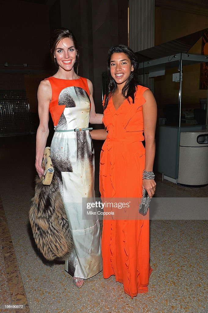Hilary Rhoda (L) attends the 2012 Apollo Circle Benefit at the Metropolitan Museum of Art on November 15, 2012 in New York City.