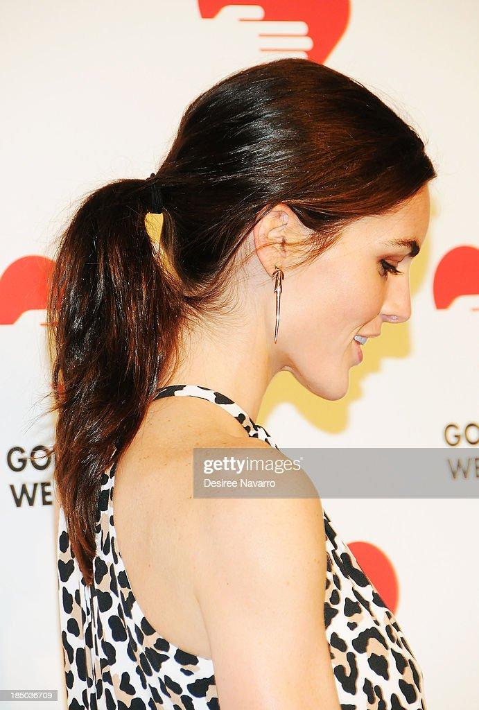 Hilary Rhoda attends the 2013 God's Love We Deliver 2013 Golden Heart Awards Celebration at Spring Studios on October 16, 2013 in New York City.