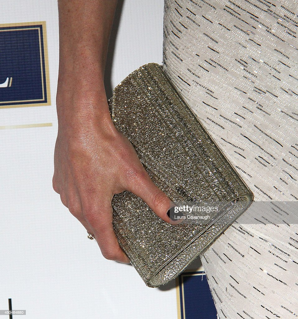 Hilary Rhoda (clutch detail) attends the 2014 Young Friends Of ACRIA Summer Soiree at Highline Stages on June 11, 2014 in New York City.