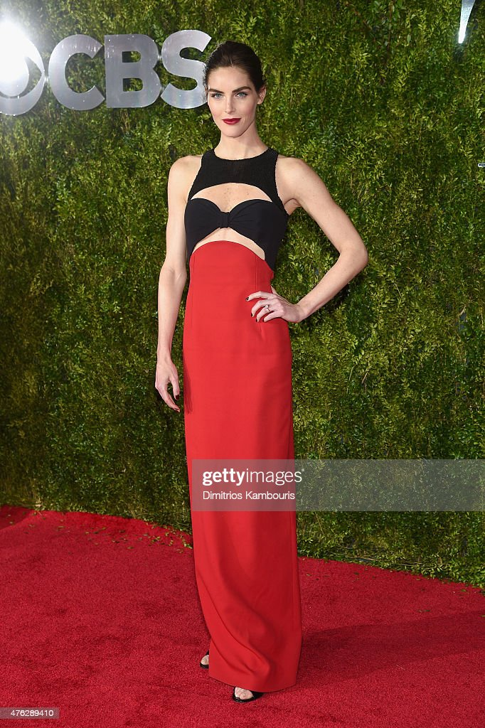 Hilary Rhoda attends the 2015 Tony Awards at Radio City Music Hall on June 7 2015 in New York City