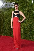 Hilary Rhoda attends the 2015 Tony Awards at Radio City Music Hall on June 7 2015 in New York City