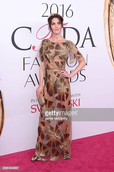 Hilary Rhoda attends the 2016 CFDA Fashion Awards at the Hammerstein Ballroom on June 6 2016 in New York City