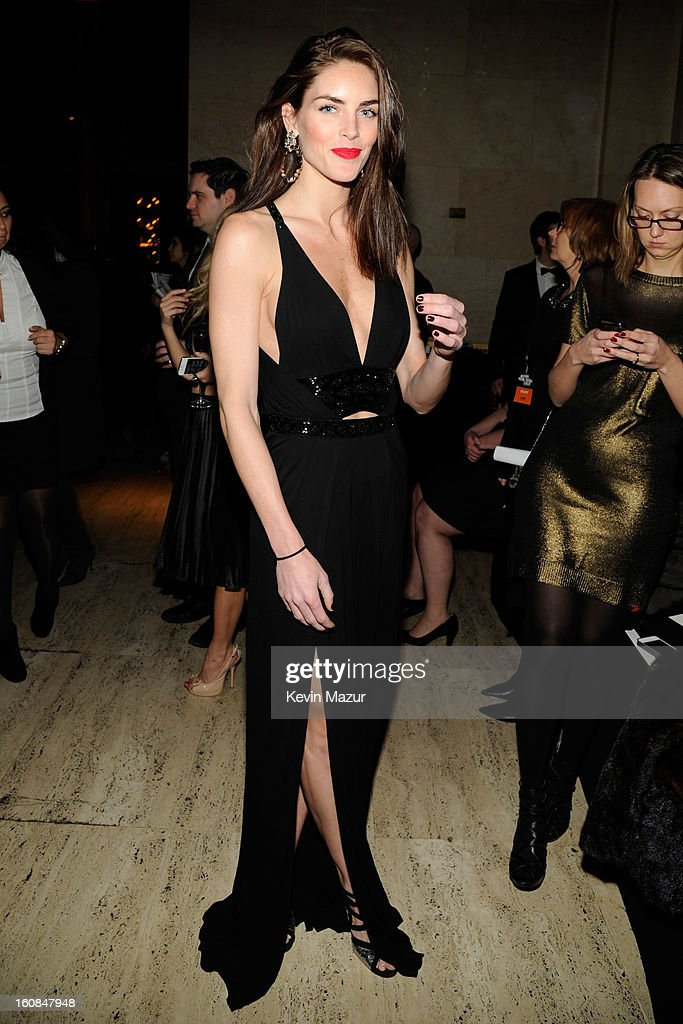 Hilary Rhoda attends the amfAR New York Gala To Kick Off Fall 2013 Fashion Week at Cipriani Wall Street on February 6, 2013 in New York City.
