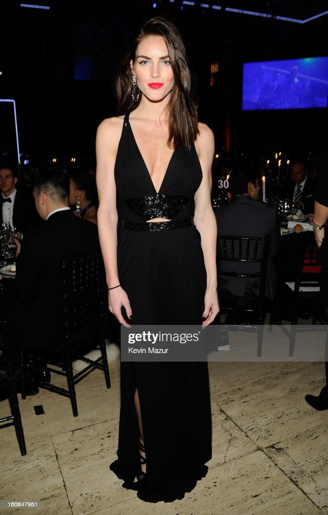 Hilary Rhoda attends the amfAR New York Gala To Kick Off Fall 2013 Fashion Week at Cipriani Wall Street on February 6, 2013 in New York City.