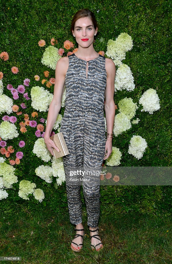 Hilary Rhoda attends the Baby Buggy Summer Dinner hosted by Jessica and Jerry Seinfeld and rag & bone on July 27, 2013 in East Hampton, New York.