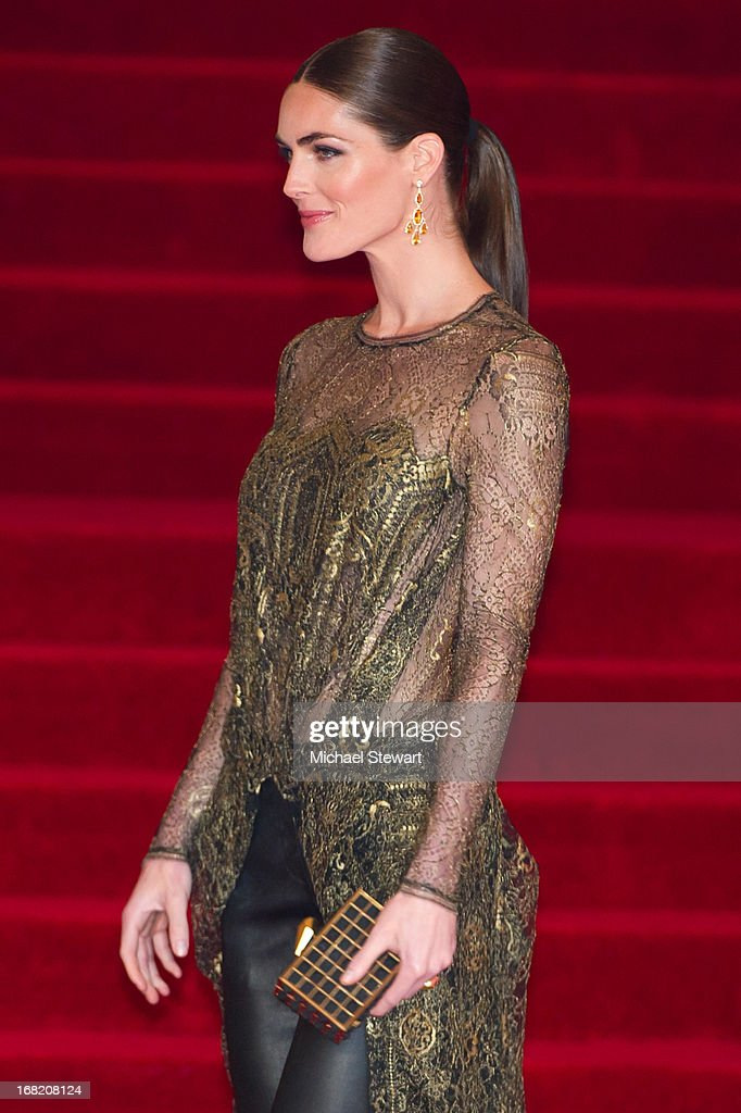 Hilary Rhoda attends the Costume Institute Gala for the 'PUNK: Chaos to Couture' exhibition at the Metropolitan Museum of Art on May 6, 2013 in New York City.