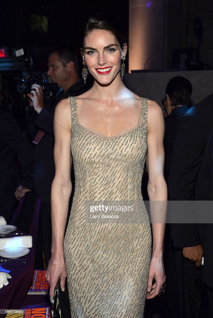 Hilary Rhoda attends the Elton John AIDS Foundation's 12th Annual An Enduring Vision Benefit at Cipriani Wall Street on October 15, 2013 in New York City.