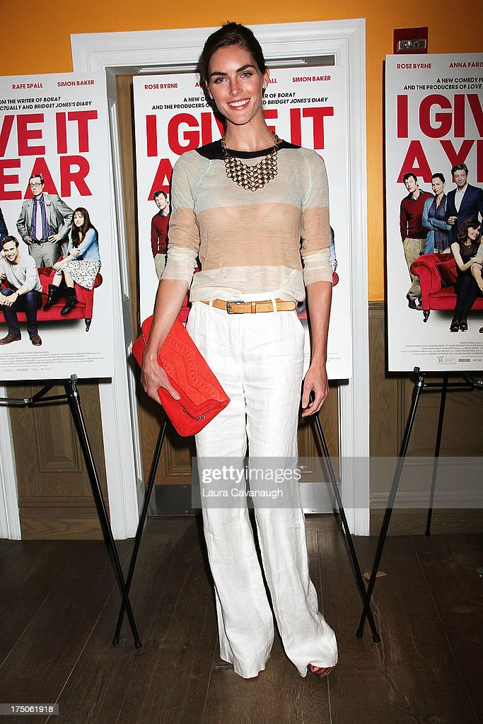 Hilary Rhoda attends the 'I Give It A Year' screening at the Crosby Street Theater on July 30, 2013 in New York City.