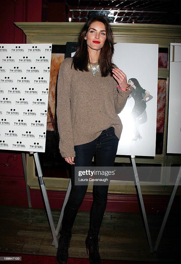 Hilary Rhoda attends the launch party for the DuJour February digital issue at The Darby Restaurant on January 23, 2013 in New York City.