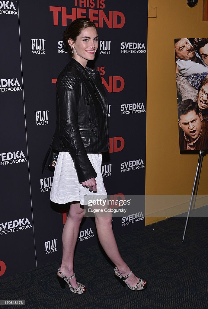 Hilary Rhoda attends 'This Is The End' New York Premiere at Landmark's Sunshine Cinema on June 10, 2013 in New York City.