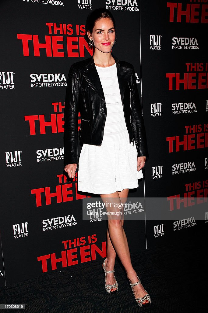 Hilary Rhoda attends 'This Is The End' New York Premiere at Sunshine Landmark on June 10, 2013 in New York City.