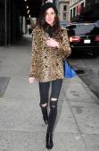 Hilary Rhoda is seen in Chelsea on November 12 2013 in New York City