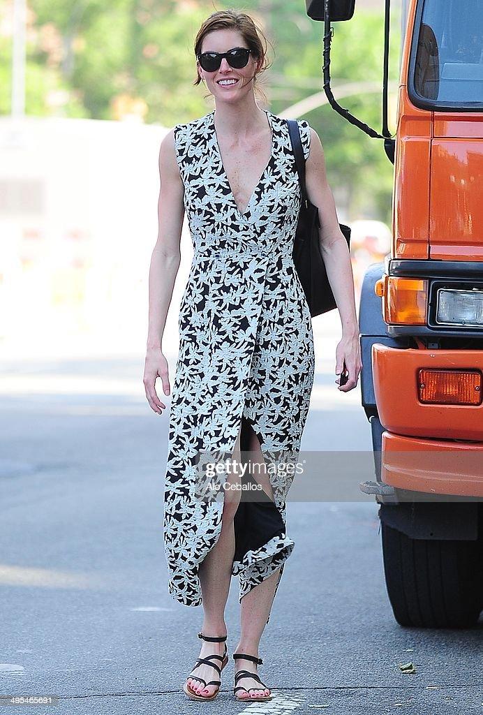 Hilary Rhoda is seen in Soho on June 3 2014 in New York City