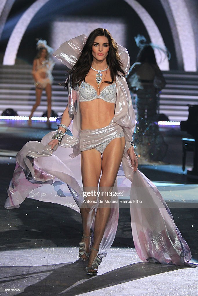 Hilary Rhoda walks the runway during the 2012 Victoria's Secret Fashion Show at the Lexington Avenue Armory on November 7, 2012 in New York City.