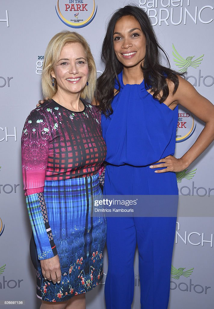 Hilary Rosen and Actress <a gi-track='captionPersonalityLinkClicked' href=/galleries/search?phrase=Rosario+Dawson&family=editorial&specificpeople=201472 ng-click='$event.stopPropagation()'>Rosario Dawson</a> attend the Garden Brunch prior to the 102nd White House Correspondents' Association Dinner at the Beall-Washington House on April 30, 2016 in Washington, DC.