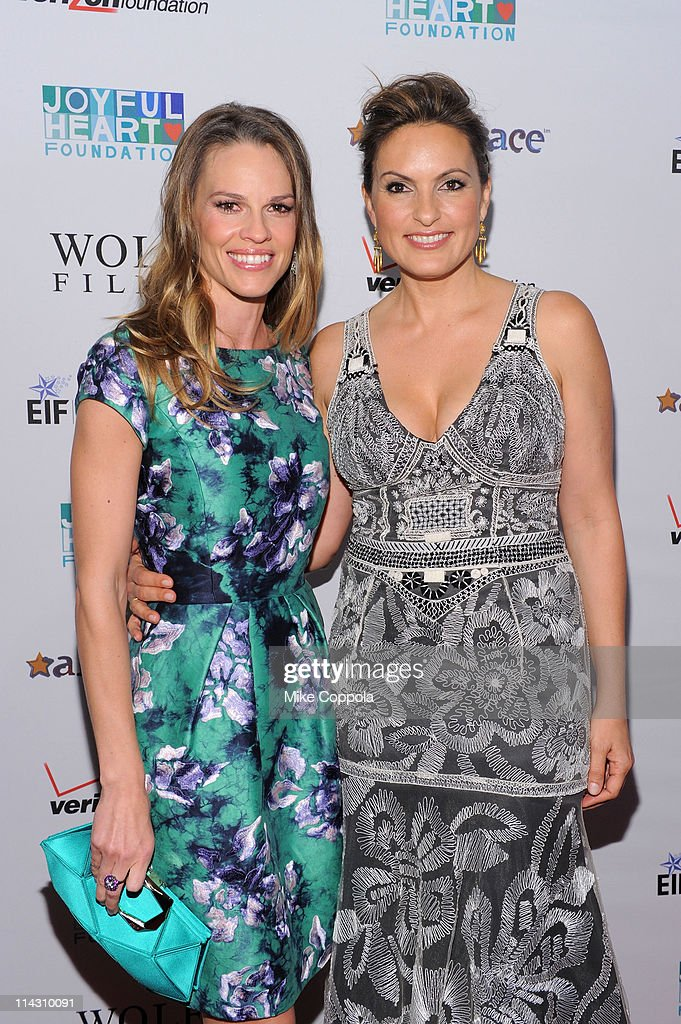 Hilary Swank and Mariska Hargitay attend the 2011 Joyful Heart Foundation Gala at The Museum of Modern Art on May 17, 2011 in New York City.