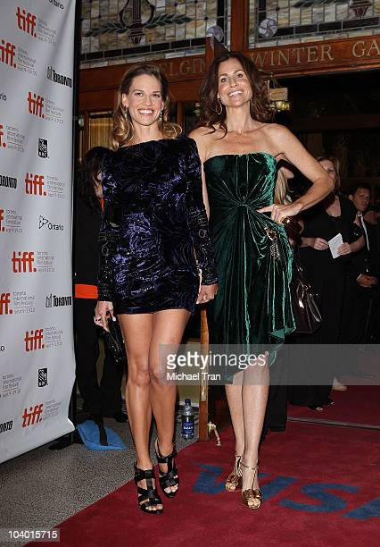 Hilary Swank and Minnie Driver arrive at the 'Conviction' premiere held at The Elgin during 2010 Toronto International Film Festival on September 11...