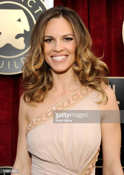 Hilary Swank arrives at the TNT/TBS broadcast of the 17th Annual Screen Actors Guild Awards held at The Shrine Auditorium on January 30 2011 in Los...