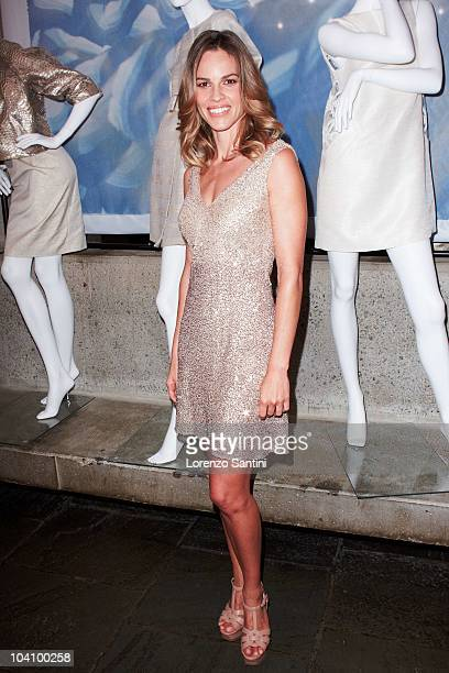 Hilary Swank at the Pamella Roland presentation during MercedesBenz Fashion Week at The Whitney Museum of American Art on September 14 2010 in New...