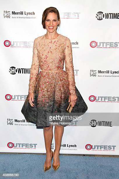 Hilary Swank attends the 2014 Outfest Legacy Awards at Vibiana on November 12 2014 in Los Angeles California
