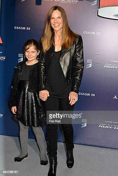 Hilary Swank attends the 'Amazing Spiderman' Paris Premiere At Le Grand Rex on April 11 2014 in Paris France