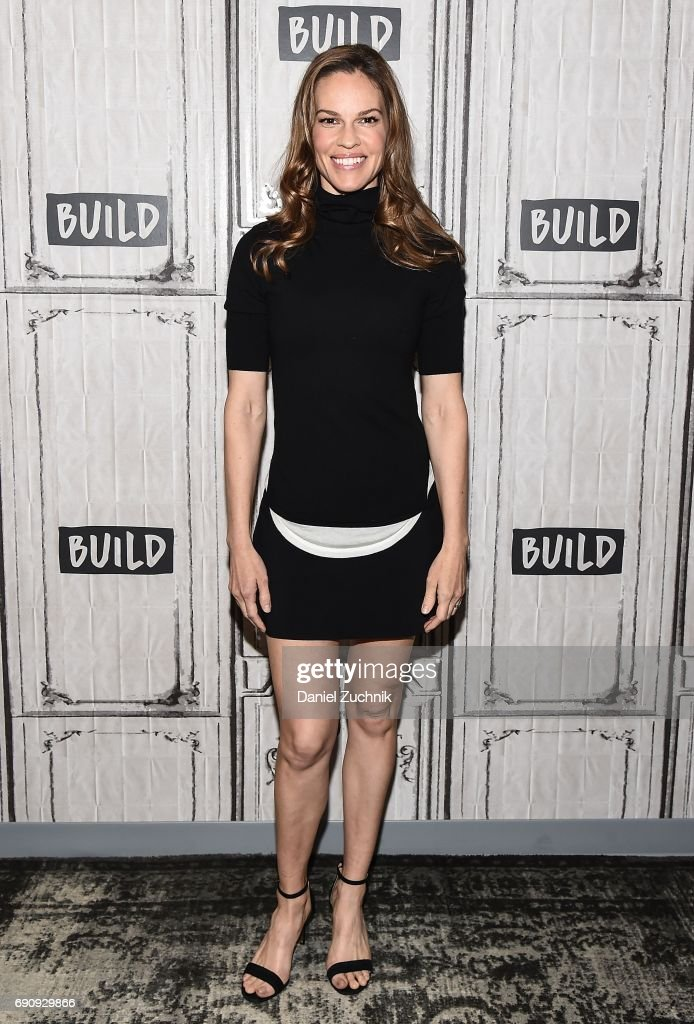 Hilary Swank attends the Build Series to discuss her new fashion brand Mission Statement at Build Studio on May 31, 2017 in New York City.