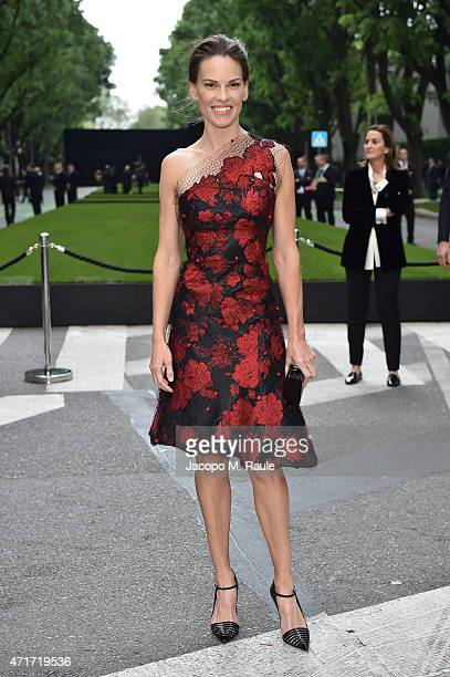 Hilary Swank attends the Giorgio Armani 40th Anniversary Silos Opening And Cocktail Reception on April 30 2015 in Milan Italy