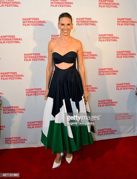 Hilary Swank attends 'The Homesman' premiere during the 2014 Hamptons International Film Festival on October 12 2014 in East Hampton New York