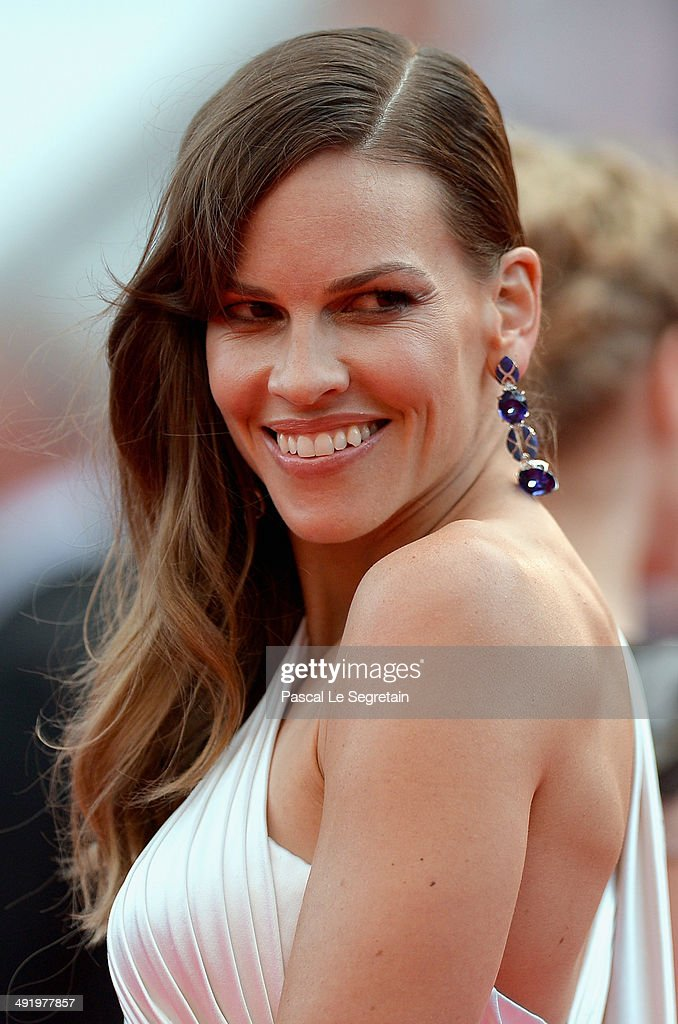 Hilary Swank attends 'The Homesman' premiere during the 67th Annual Cannes Film Festival on May 18, 2014 in Cannes, France.