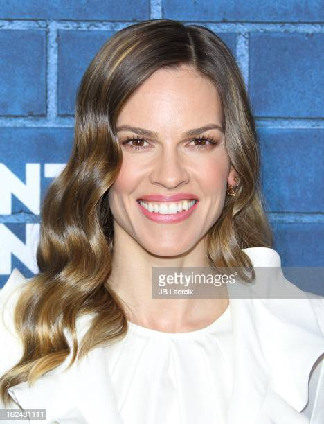 Hilary Swank attends the Montblanc and UNICEF preOscar brunch celebrating their limited edition collection at Hotel BelAir on February 23 2013 in Los...