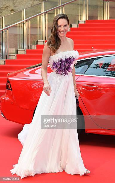 Hilary Swank attends the opening ceremony of the Tokyo International Film Festival 2015 at Roppongi Hills on October 22 2015 in Tokyo Japan