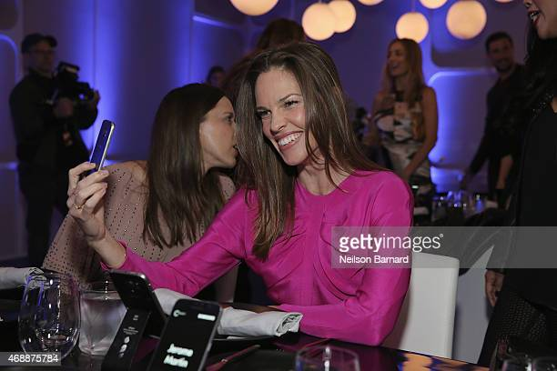 Hilary Swank attends the Samsung Galaxy S 6 edge launch in New York City on April 7 2015 in New York City