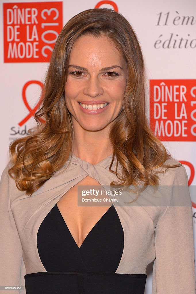 <a gi-track='captionPersonalityLinkClicked' href=/galleries/search?phrase=Hilary+Swank&family=editorial&specificpeople=201692 ng-click='$event.stopPropagation()'>Hilary Swank</a> attends the Sidaction Gala Dinner 2013 at Pavillon d'Armenonville on January 24, 2013 in Paris, France.