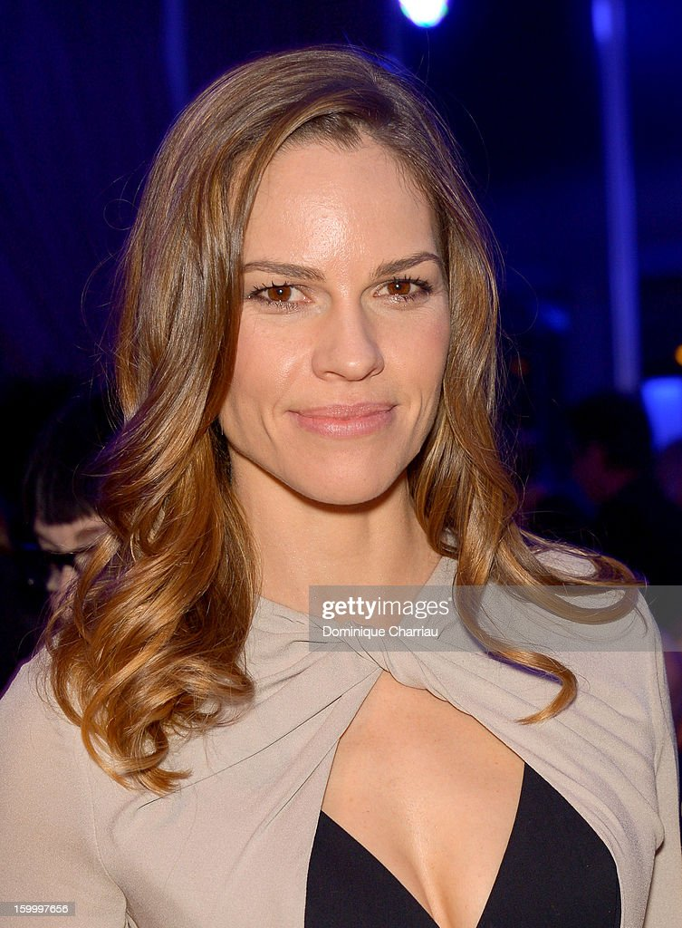 Hilary Swank attends the Sidaction Gala Dinner 2013 at Pavillon d'Armenonville on January 24, 2013 in Paris, France.