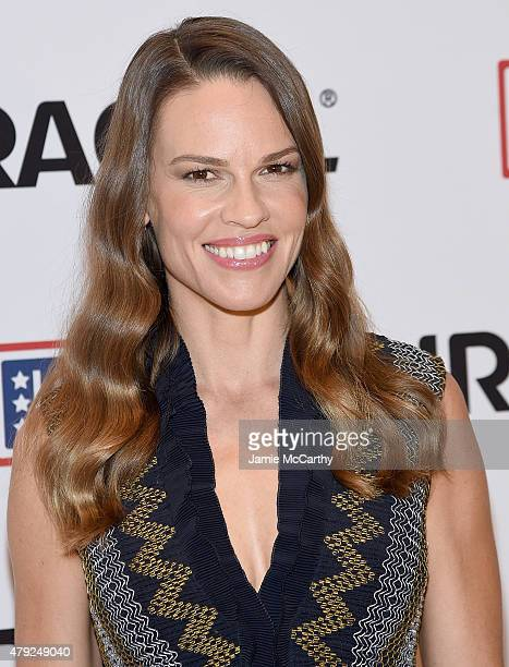 Hilary Swank attends the USO's 'Comfort Crew For Military Kids' Event at Times Center on July 2 2015 in New York City