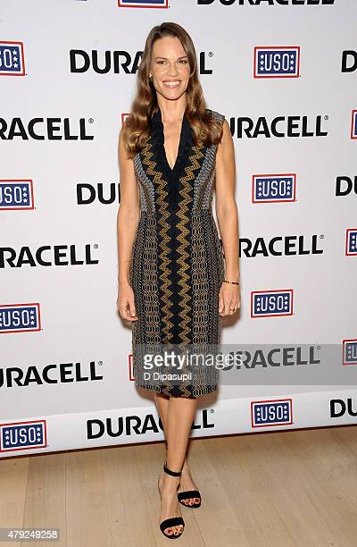 Hilary Swank attends USO's 'Comfort Crew for Military Kids' program screening at The Times Center on July 2 2015 in New York City
