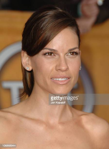 Hilary Swank during 12th Annual Screen Actors Guild Awards Arrivals at Shrine Auditorium in Los Angeles CA United States