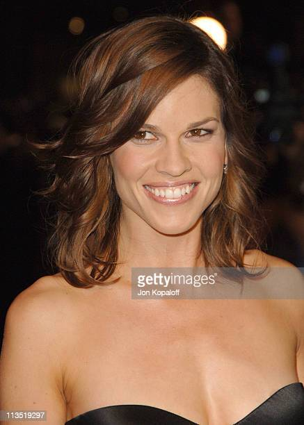 Hilary Swank during 2006 Vanity Fair Oscar Party at Morton's in West Hollywood California United States