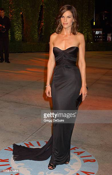 Hilary Swank during 2006 Vanity Fair Oscar Party Hosted by Graydon Carter Arrivals at Morton's in West Hollywood California United States