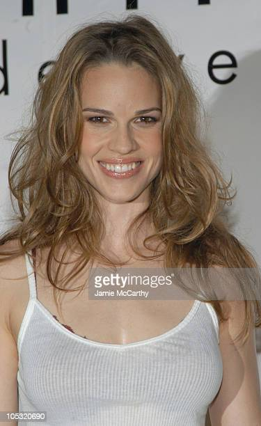 Hilary Swank during Calvin Klein Underwear Party hosted by Hilary Swank and Freddie Ljungberg at Milk Studios in New York City New York United States