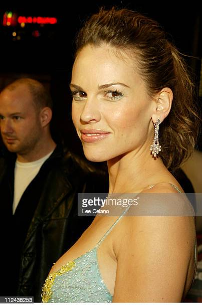 Hilary Swank during Los Angeles Premiere of 'Iron Jawed Angels' Red Carpet at El Capitan Theatre in Hollywood California United States