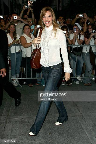 Hilary Swank during NBC Benefit Special to Aid Victims of Hurricane Katrina Arrivals at Rockefeller Center in New York City New York United States