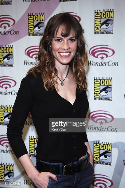 Hilary Swank during WonderCon Day 2 at Moscone Center in San Francisco California United States