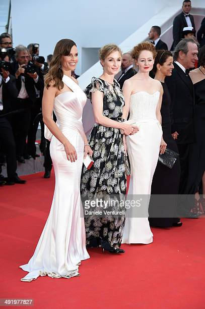 Hilary Swank Sonja Richter and Miranda Otto attend 'The Homesman' Premiere at the 67th Annual Cannes Film Festival on May 18 2014 in Cannes France