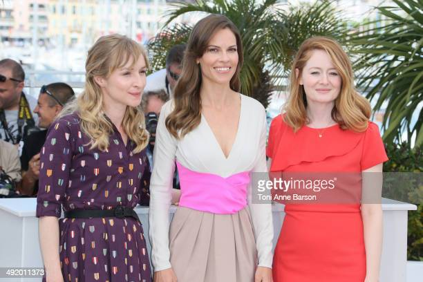 Hilary Swank Sonja Richter and Miranda Otto attends 'The Homesman' photocall at the 67th Annual Cannes Film Festival on May 18 2014 in Cannes France