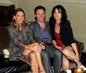 Hilary Swank Tony Goldwyn and Juliette Lewis the after party for the Cinema Society screening of 'Conviction' at the Soho Grand Hotel on October 12...