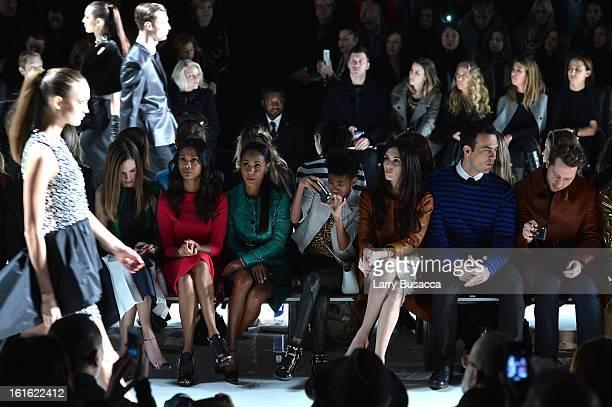 Hilary Swank Zoe Saldana Jada Pinkett Smith Willow Smith Paz Vega Cheyenne Jackson and Derek Blasberg attend the Michael Kors Fall 2013 fashion show...